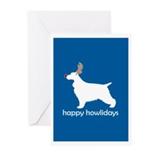 "English Cocker ""Happy Howlida Greeting Cards (Pack"