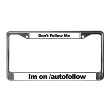 Autofollow License Plate Frame