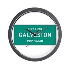 Galveston, Texas City Limits Wall Clock
