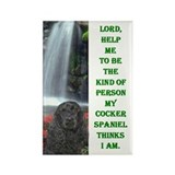 Funny Black cocker spaniel Rectangle Magnet