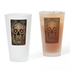 PSYCHEDELIC SKULL Drinking Glass