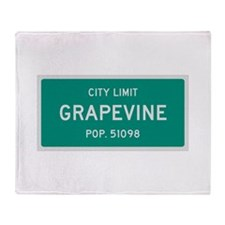 Grapevine, Texas City Limits Throw Blanket