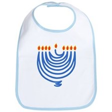 String Chanukah Menorah Bib