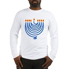 String Chanukah Menorah Long Sleeve T-Shirt