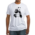Hand Sketched Panda Fitted T-Shirt