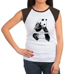 Hand Sketched Panda Women's Cap Sleeve T-Shirt