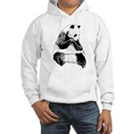 Hand Sketched Panda Hooded Sweatshirt