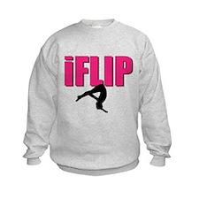 I Flip Tumbling gymnast Sweatshirt