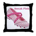Sneak Pink Throw Pillow