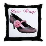 Rose Wrap Throw Pillow