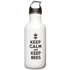 Keep Calm and Keep Bees Water Bottle