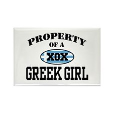 Property of a Greek Girl Rectangle Magnet