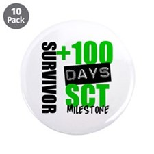 "100 Days SCT Survivor 3.5"" Button (10 pack)"