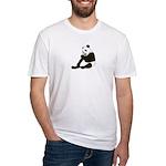 PAND BEAR HOLDING A SUCKER Fitted T-Shirt