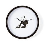 PAND BEAR HOLDING A SUCKER Wall Clock