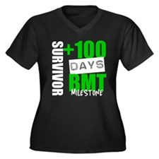 100 Days BMT Survivor Women's Plus Size V-Neck Dar