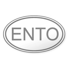 International Sign of Entomology Oval Decal
