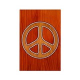 Inlaid Peace Rectangle Magnet (10 pack)