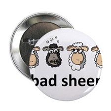 "Bad sheep 2.25"" Button"