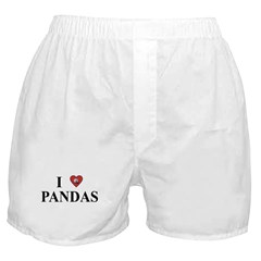 I Love Pandas Boxer Shorts