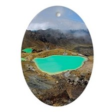 Volcanic lakes, New Zealand - Oval Ornament