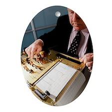 Lie detector machine - Oval Ornament