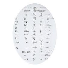 Evolution of cuneiform writing - Oval Ornament