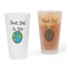 Best Dad in the world Drinking Glass