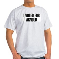I Voted for Arnold Ash Grey T-Shirt