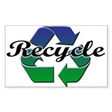 Recycle Oval Bumper Stickers