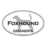 Foxhound GRANDPA Oval Decal