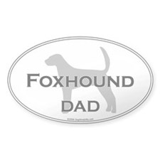 Foxhound DAD Oval Decal