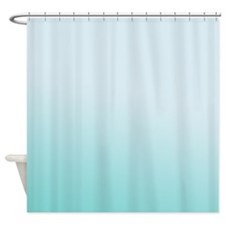 Aqua Sky Gradient Shower Curtain