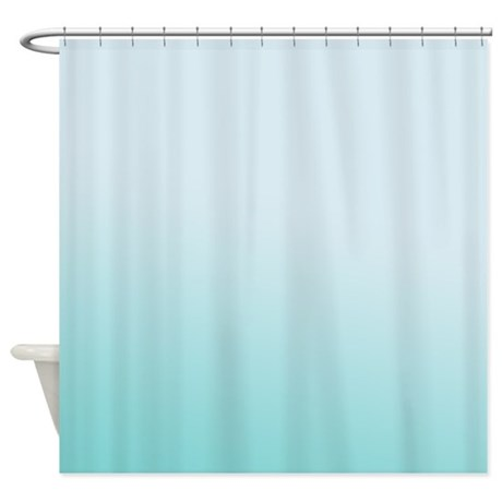 aqua sky gradient shower curtain by be inspired by life