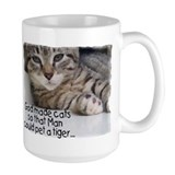 God Made Cats... Large 2-sided Mug