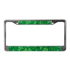 Shamrock Pattern License Plate Frame