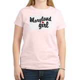 Maryland Girl Women's Pink T-Shirt