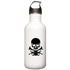 Skull with Trumpets Water Bottle