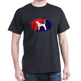 US Flag American Foxhound T-Shirt