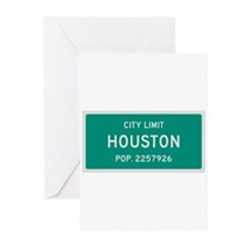 Houston, Texas City Limits Greeting Cards (Pk of 1