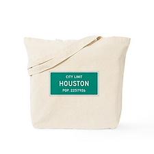 Houston, Texas City Limits Tote Bag