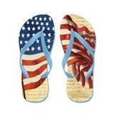 American Flag Constitution Flip Flops