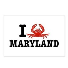 I Love Maryland Postcards (Package of 8)