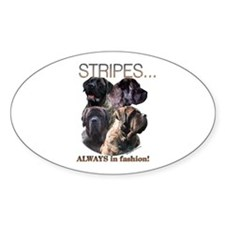 Brindle 13 Oval Decal