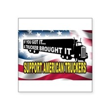 Support American Truckers -Rectangle Sticker