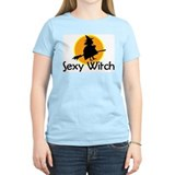 Sexy Witch Women's Pink T-Shirt
