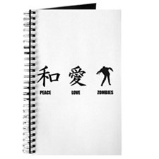 Kanji Peace Love Zombies Journal