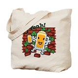 St Patricks Day Happy Beer Guy Tote Bag