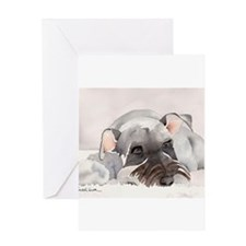 Cute Schnauzer Greeting Card