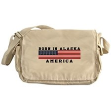 Born In Alaska Messenger Bag